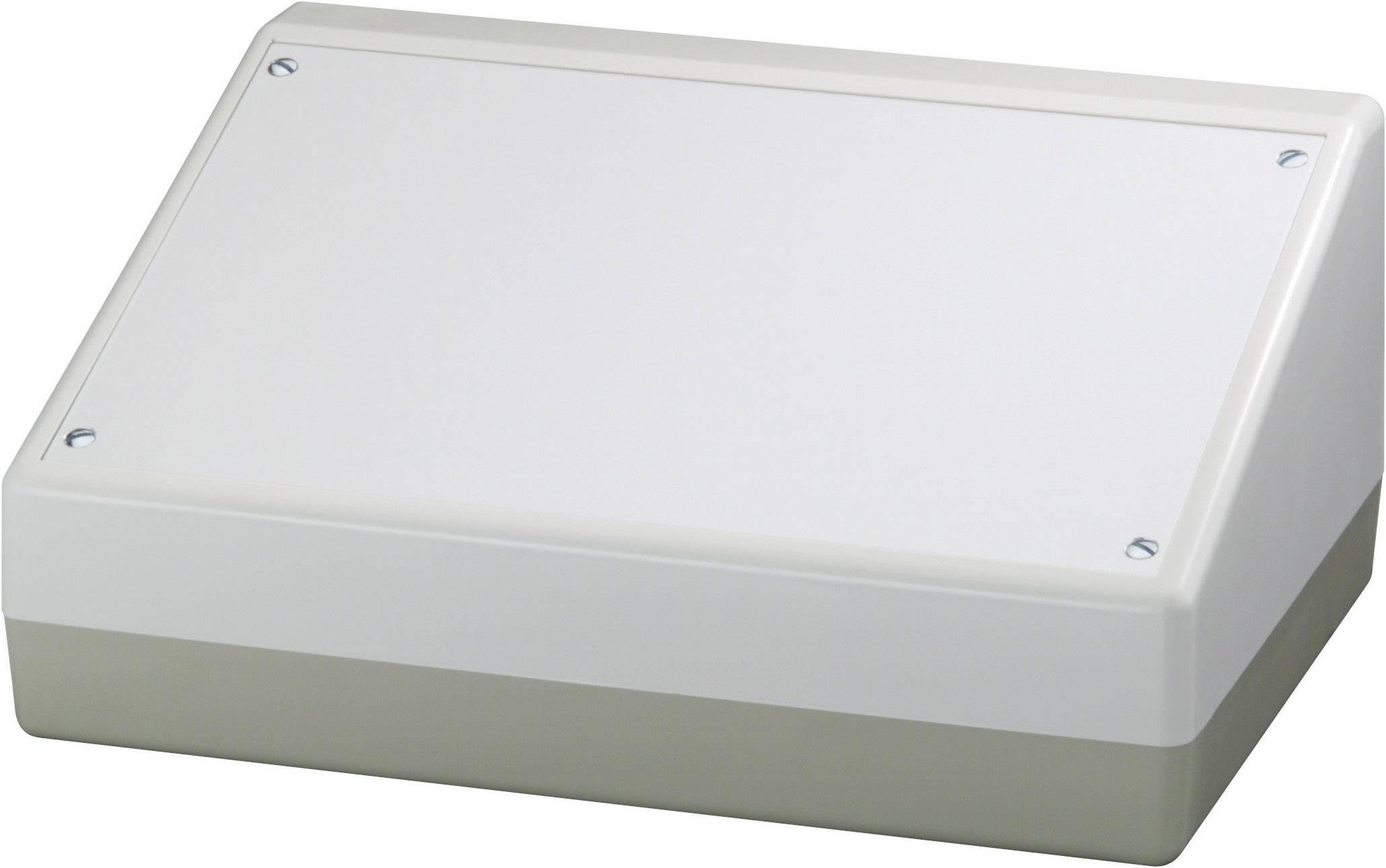 Pultové pouzdro ABS OKW Pultgehäuse 220, (š x v x h) 220 x 100/52 x 156 mm, hliníková