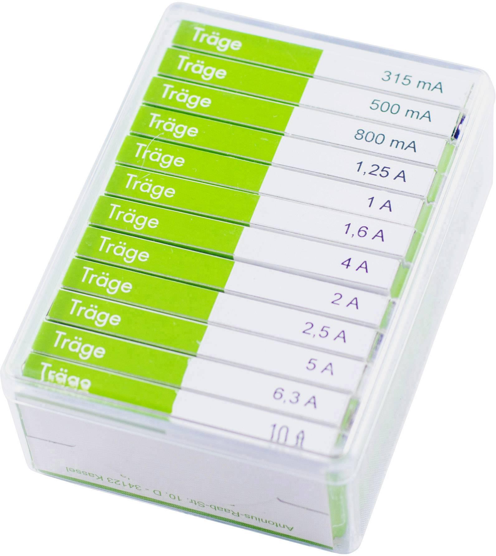 Sada trubičkových poistiek ESKA 632830, (Ø x d) 6.3 mm x 32 mm, pomalý -T-, 120 dielov