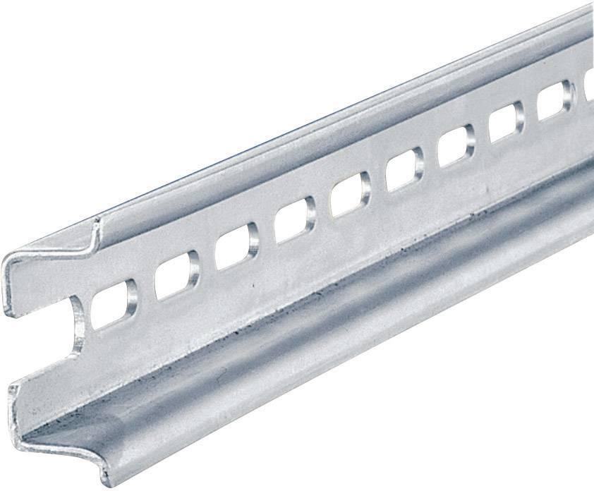 Koľajnica s otvormi Rittal PS 4933.000, s otvormi, 455 mm, oceľový plech, 1 ks