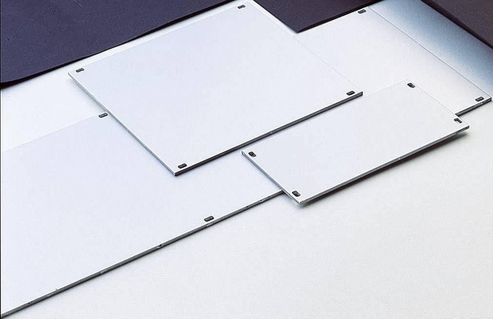 Čelný panel hliník, strieborná (matná, eloxovaná), 1 ks