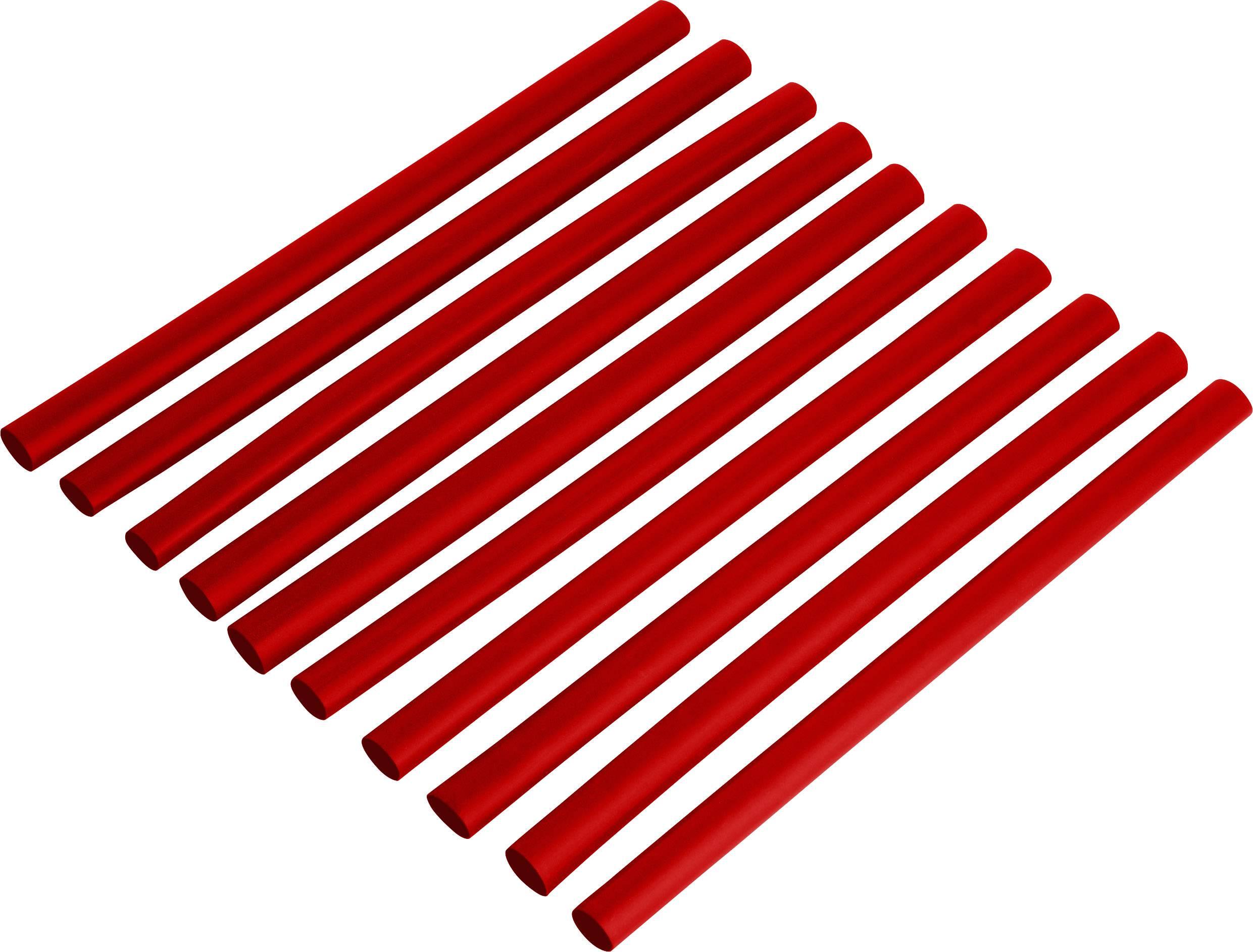 Zmršťovacia bužírka 6,4/3,2 mm, červená