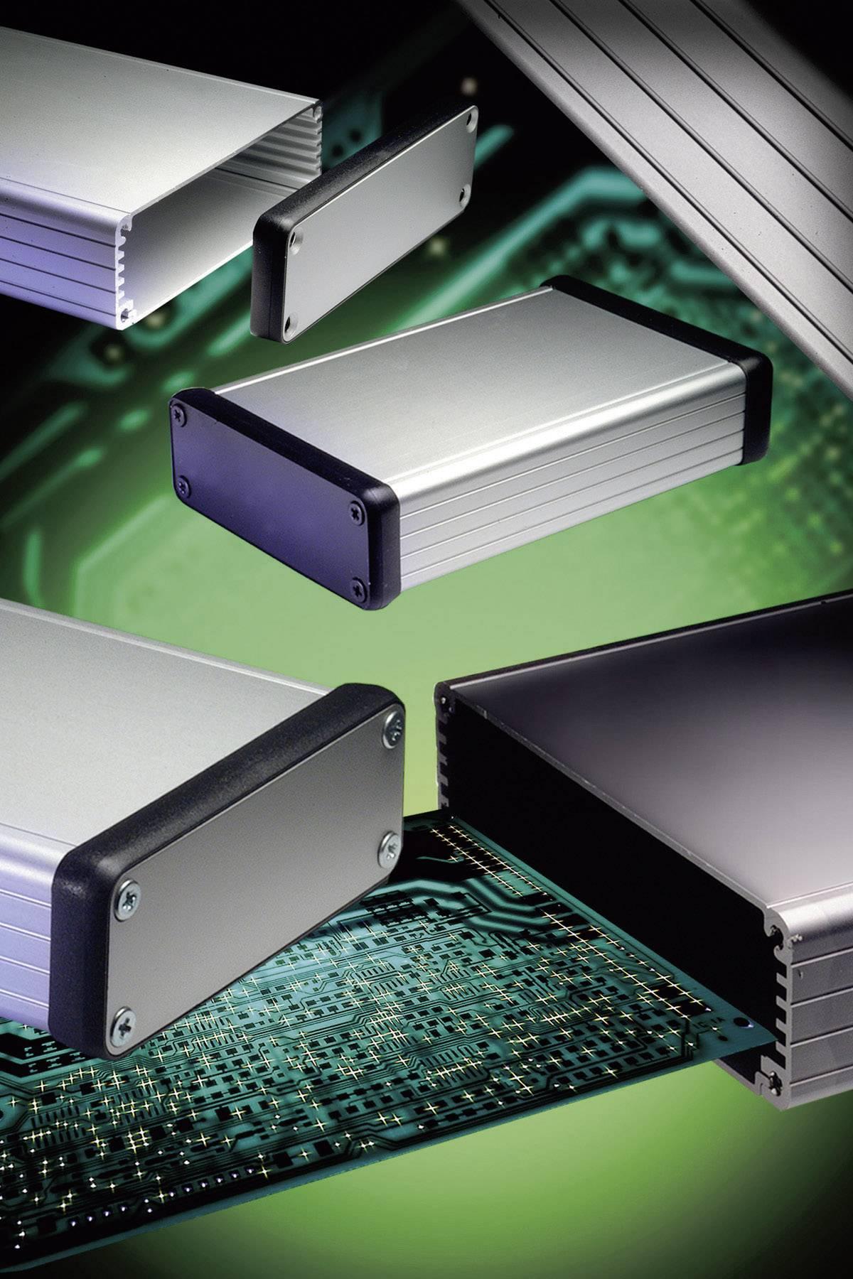 Hliníkové profilované pouzdro Hammond Electronics, (d x š x v) 80 x 54 x 23 mm, černá (1455C802BK)