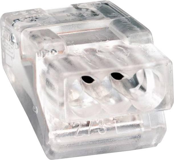 Krabicová svorka WAGO na kábel s rozmerom - , pólů 3, 1 ks, priehľadná