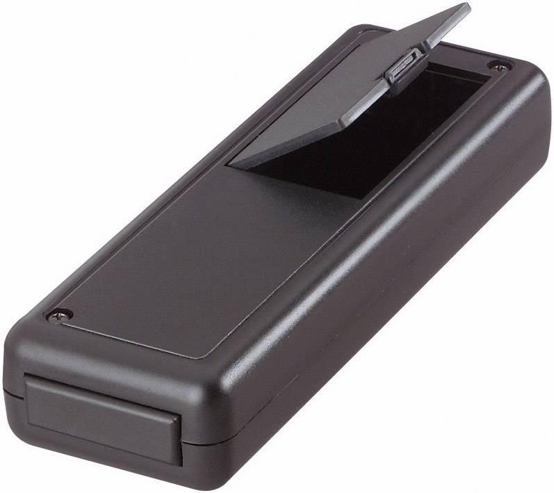 Plastová krabička Strapubox 6094, 135 x 44 x 24 mm, ABS, čierna, 1 ks