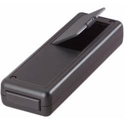 Plastová krabička TRU COMPONENTS TC-6094 SW203, 135 x 44 x 24 mm, ABS, čierna, 1 ks