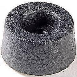 Podstavná nôžka prístrojová 4002, (Ø x v) 17.5 mm x 9 mm, čierna, 1 ks