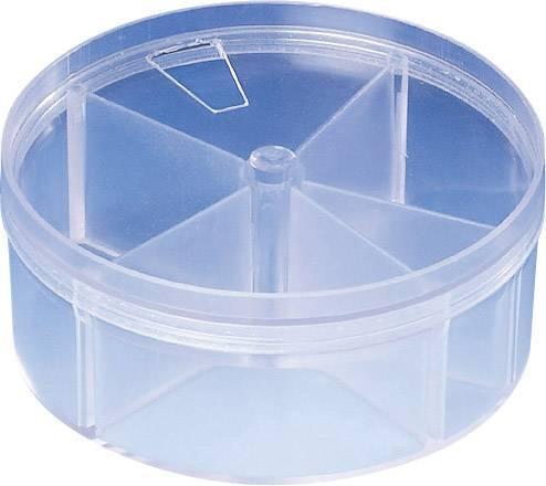 Krabice na súčiastky Strapubox RD 4, priečinkov: 5, priehľadná