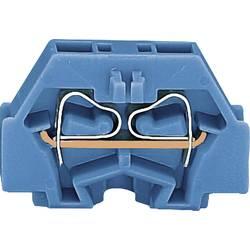 Svorka 2vodičová Wago 260-304, s přip. přírubou, pružinová, 5 mm, modrá