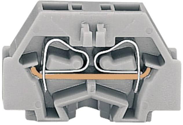 Svorka 2vodičová Wago 260-301, s přip. přírubou, pružinová, 5 mm, šedá