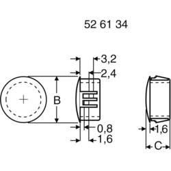 Záslepka PB Fastener 76048, 6,2 mm, Ø 6,4 mm, černá