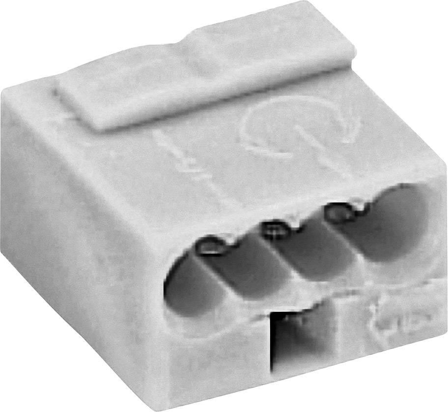 Krabicová svorka WAGO na kábel s rozmerom 0.6- , pólů 4, 1 ks, tmavosivá