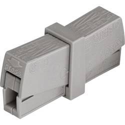 Krabicová svorkovnica WAGO na kábel s rozmerom 0.5-2.5 mm², pólů 2, 1 ks, sivá