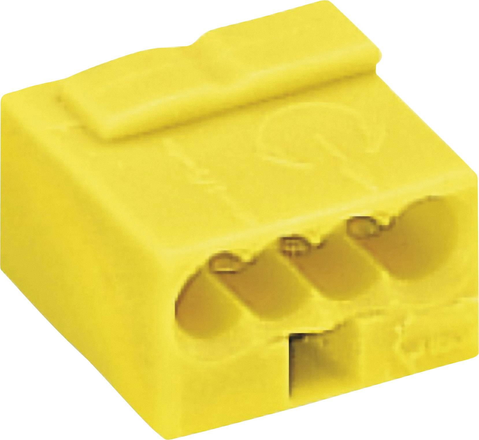 Krabicová svorka WAGO na kábel s rozmerom 0.6- , pólů 4, 1 ks, žltá