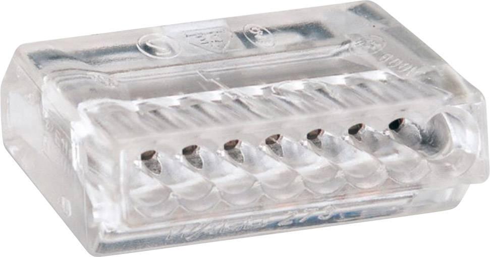 Krabicová svorka WAGO 273-158 na kábel s rozmerom - , tuhosť 0.75-1.5 mm², počet pinov 8, 1 ks, priehľadná
