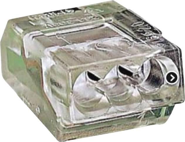 Krabicová svorka WAGO 273-253 na kábel s rozmerom - , tuhosť 1-2.5 mm², počet pinov 3, 100 ks, priehľadná