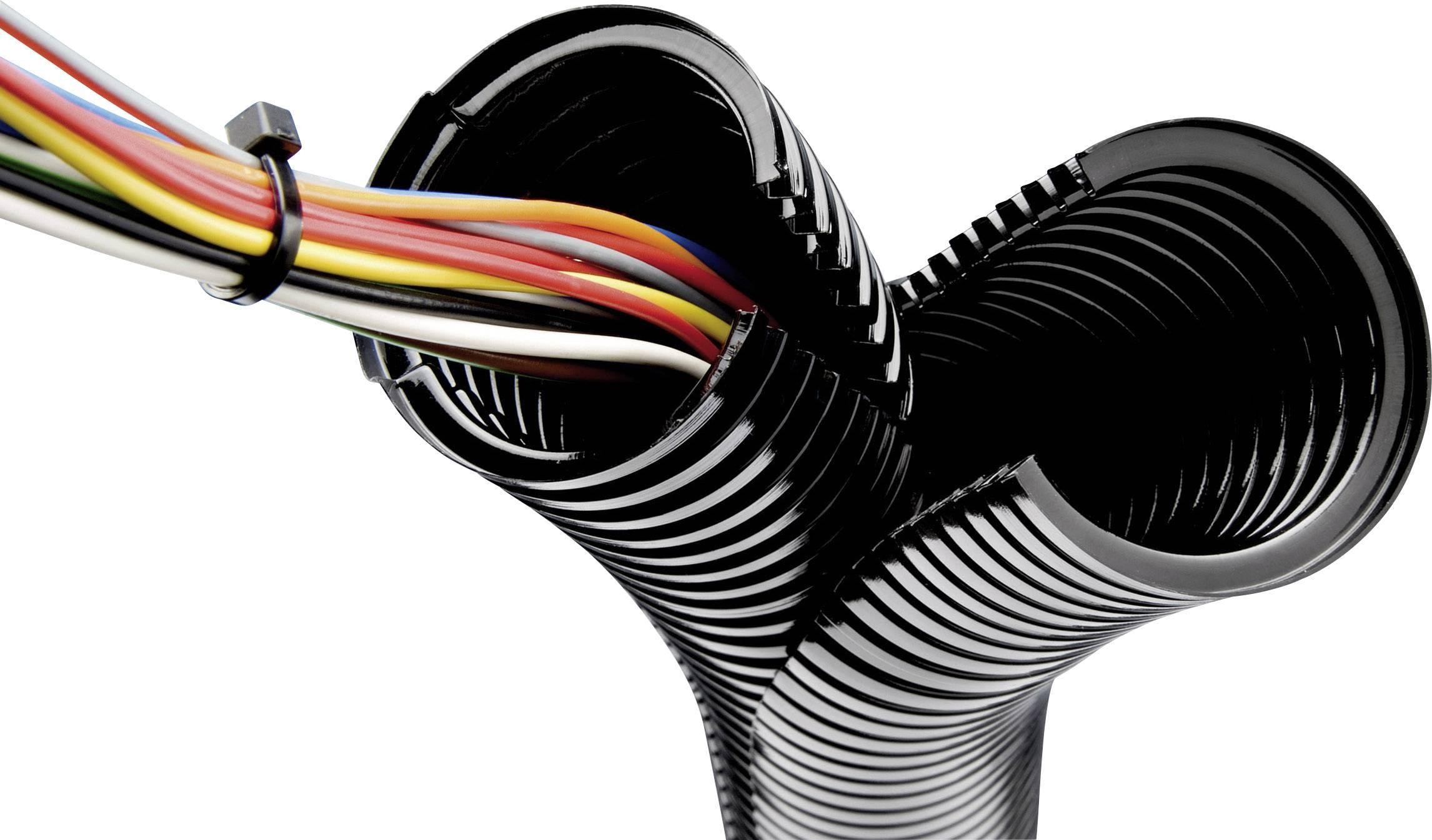 Rovná LappKabel SILVYN® SPLIT 10 61806620, 8.90 mm, čierna, metrový tovar