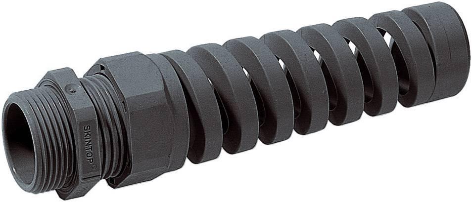 Káblová priechodka LappKabel SKINTOP® BS-M 12 x 1.5;so špirálou chrániacou proti ohybu, polyamid, čierna (RAL 9005), 1 ks