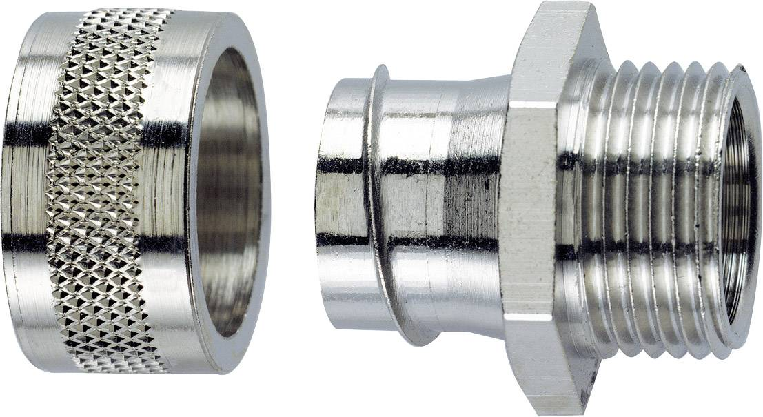 Hadicová spojka rovná LappKabel SILVYN® LGF-2-M 20X1.5/1 55502021, M20, 13 mm, strieborná, 1 ks