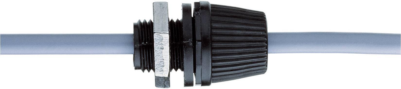 Kabelová průchodka s odlehčením tahu M10, polyamid, IP55