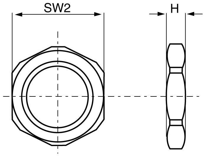 Pojistná matice ke kabelovému šroubení M 16