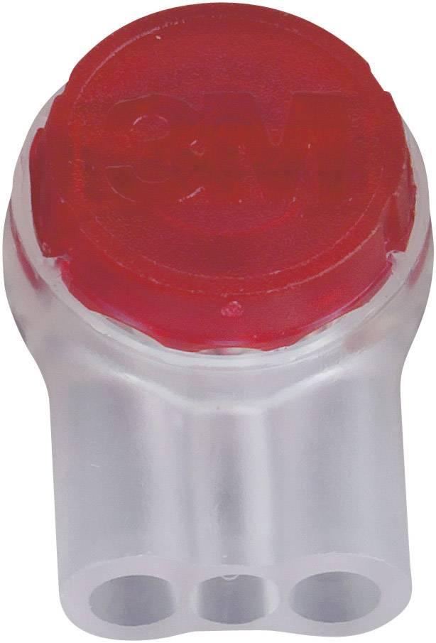 Zakončovacida dutinka 3M na kábel s rozmerom 0.13-0.65 mm², pólů 3, 1 ks, červená