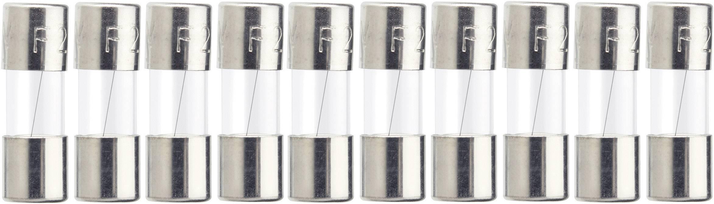 Jemná poistka ESKA 515620, 2 A, 250 V, (Ø x d) 5 mm x 15 mm, rýchly -F-, 10 ks