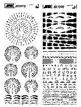 Značky pro plošné spoje SENO, stupnice, černá