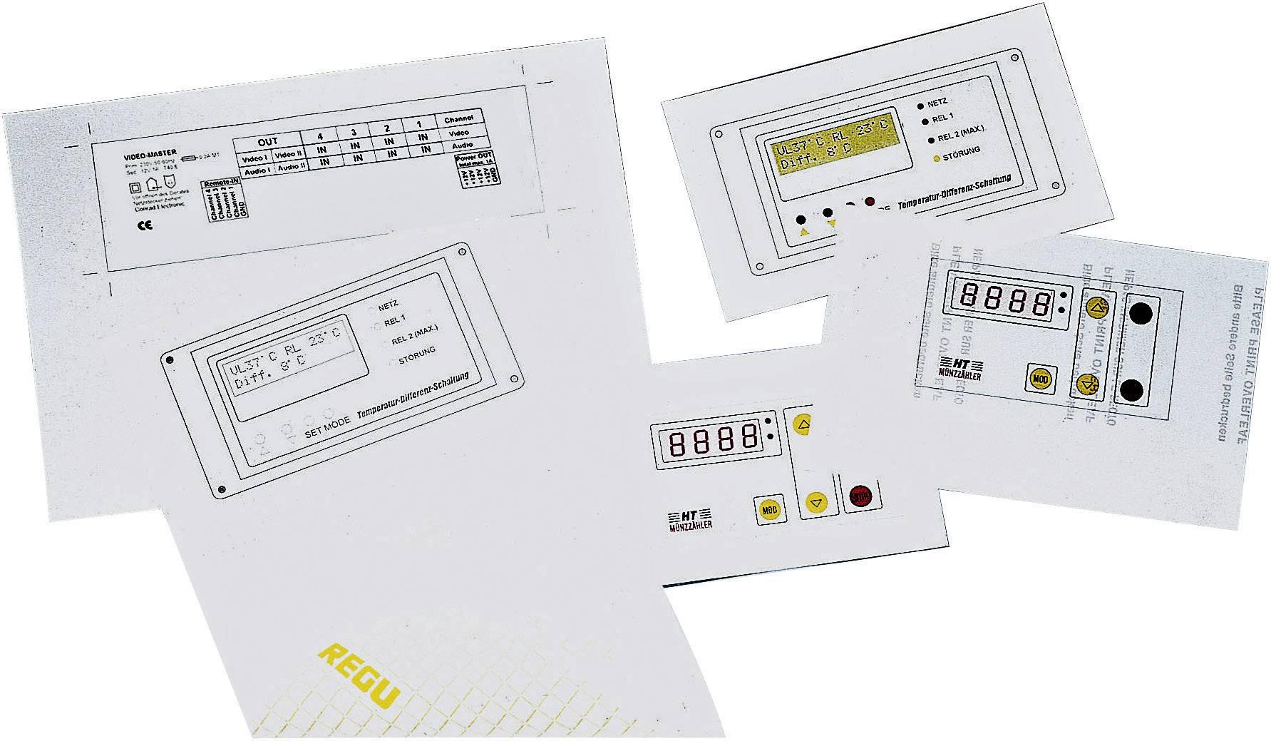 Samolepící fólie na panel laserové tiskárny - stíbrně šedá