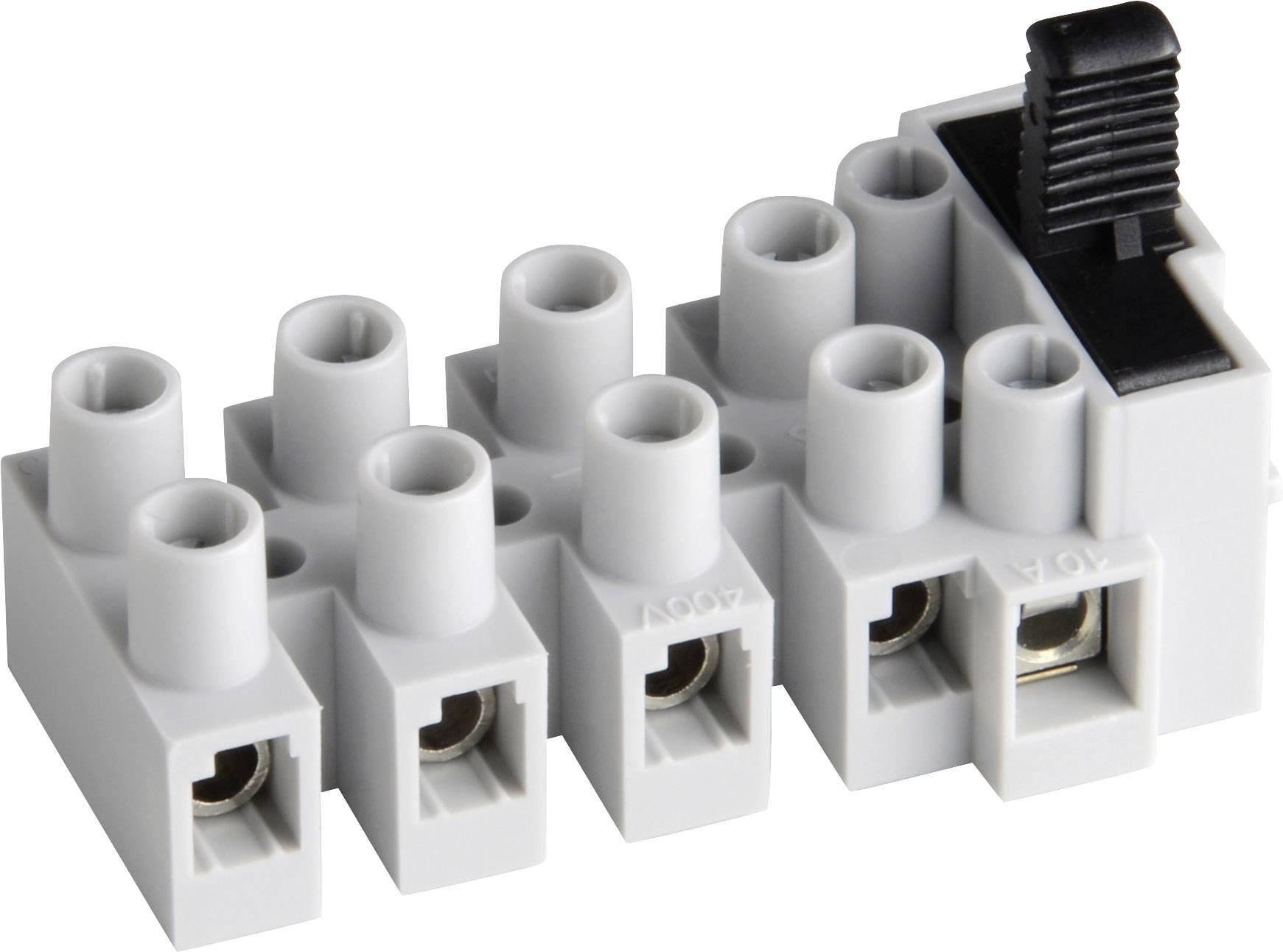 Svietidlové svorky Adels-Contact 503 SI/5 DS 17 03 05 V9 na kábel s rozmerom 0.5-2.5 mm², tuhosť 0.5-2.5 mm², počet pinov 5, 1 ks, prírodná