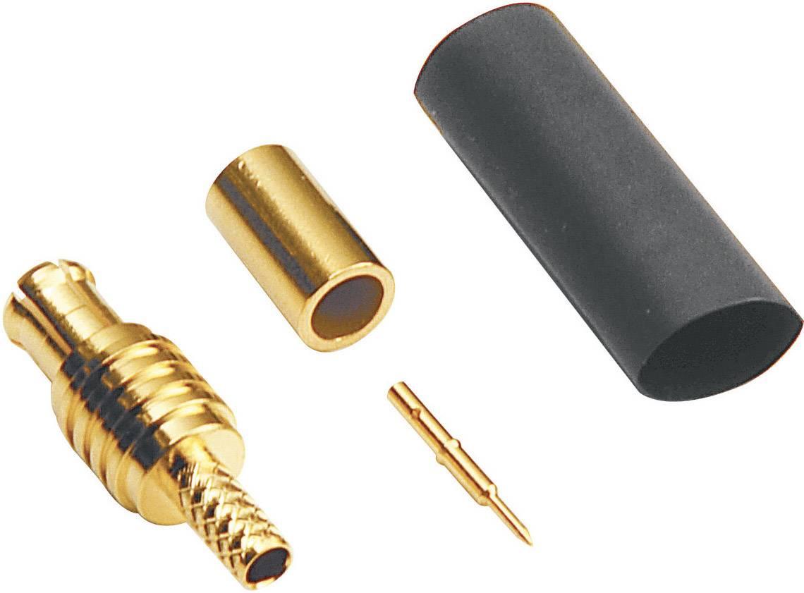 MCX konektor BKL 416002, 50 Ω, zástrčka rovná
