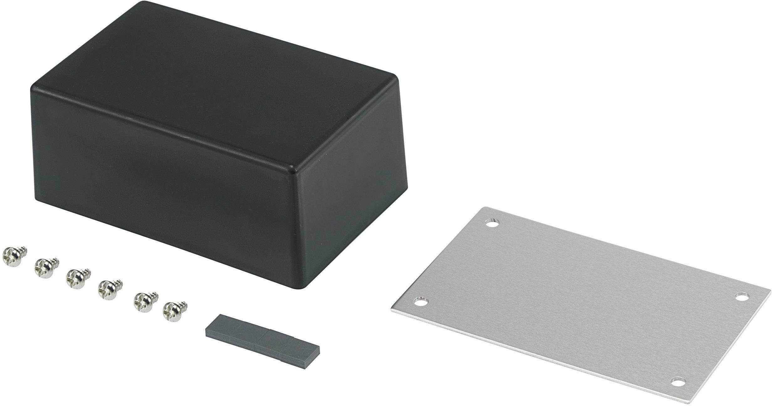 Univerzálne púzdro TRU COMPONENTS 98003C9 530086, 83.5 x 53.5 x 35 , ABS, kov, čierna, 1 ks
