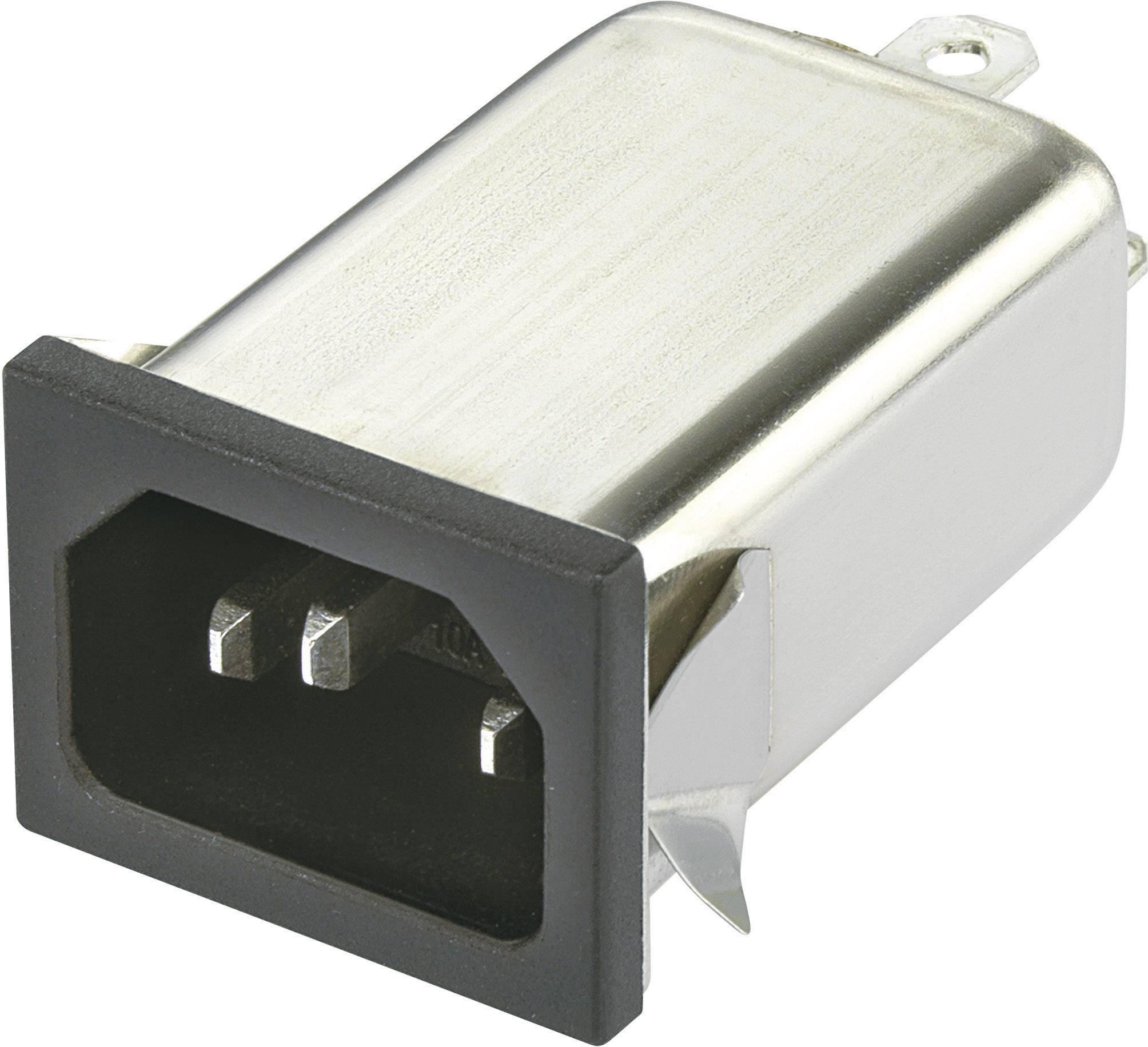 Sieťový filter Yunpen YO06T1 530106, s IEC zásuvkou, 250 V/AC, 6 A, 0.7 mH, (d x š x v) 59.5 x 29 x 22 mm, 1 ks