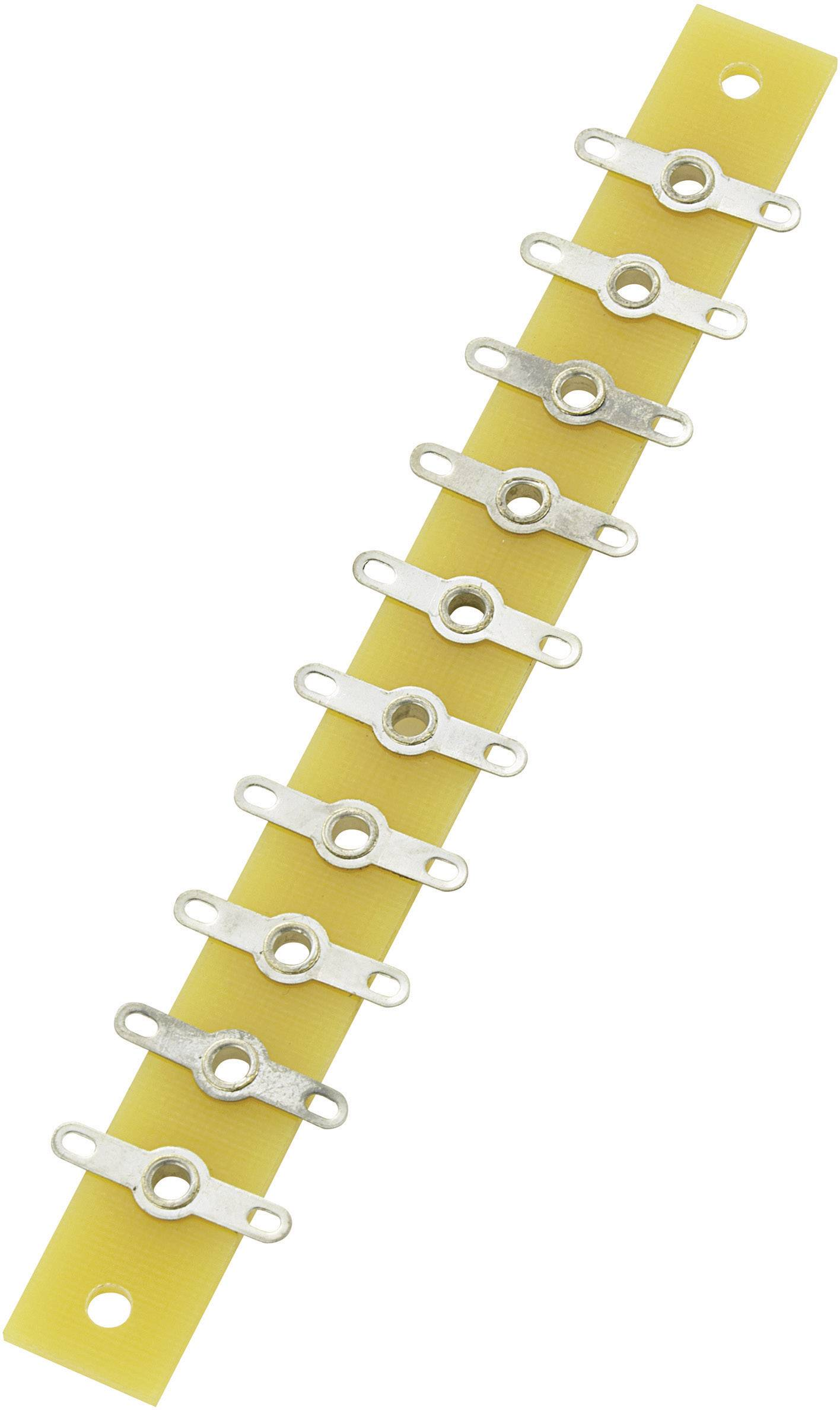 Spájkovacia lišta Conrad Components 530199, pólov 10, (d x š x v) 120 x 12 x 1.6 mm, 1 ks
