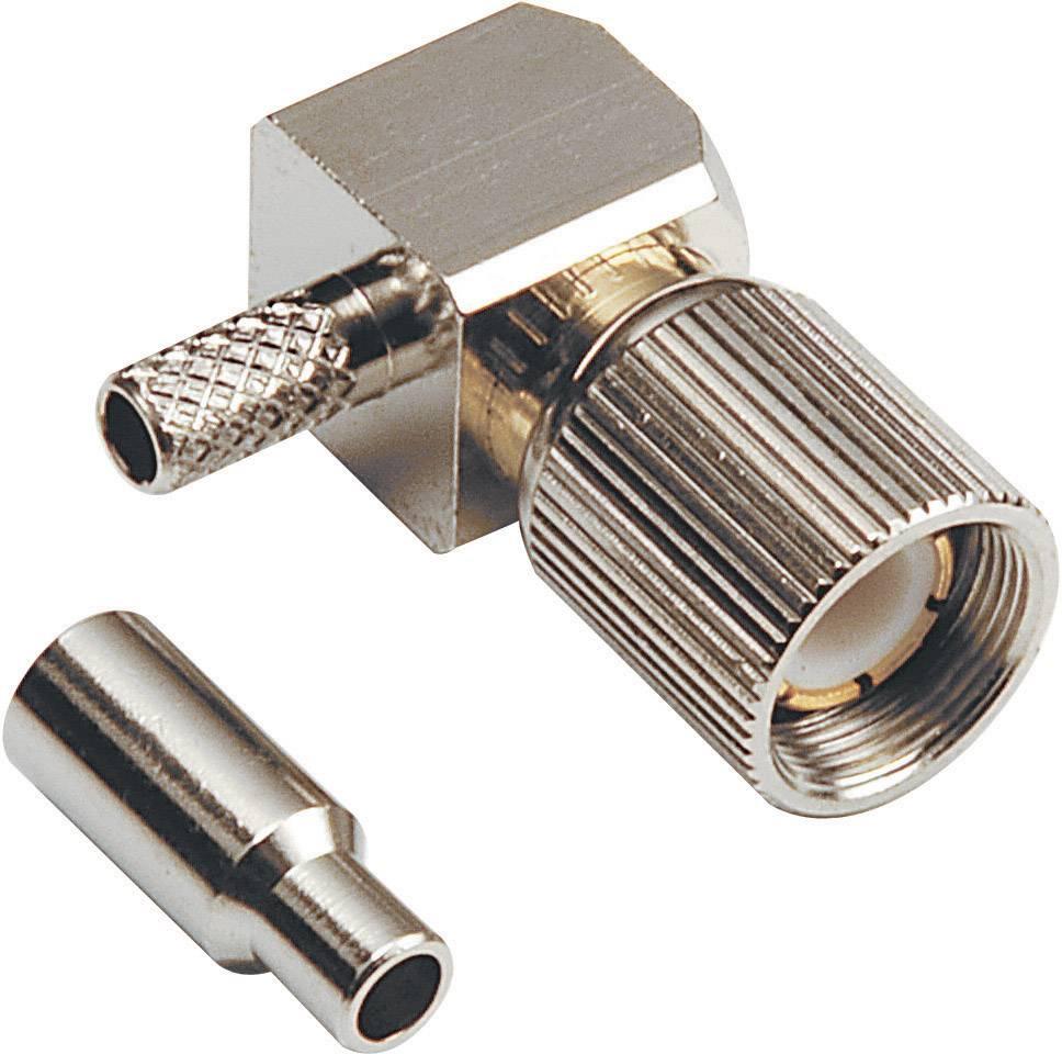 Koaxiálny konektor1.6, 5.6 zástrčka, zahnutá BKL Electronic 0415104, 75 Ohm, 1 ks