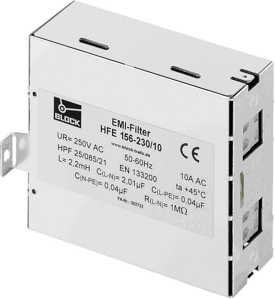 Bezdrôtový odrušovací filter Block HFE 156-230/10 HFE 156-230/10, 250 V/AC, 10 A, (š x v) 40 mm x 85 mm, 1 ks