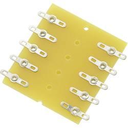 Pájecí lišta dvouřadá TRU COMPONENTS 530282, pólů 10, epoxid, (d x š x v) 43 x 38 x 1.6 mm, 1 ks