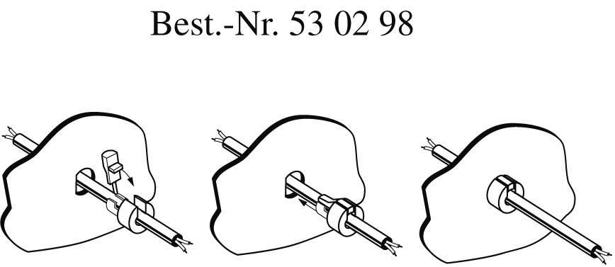 Odľahčenie ťahu PB Fastener 300 1148, Ø 7.4 mm, polyamid, biela, 1 ks