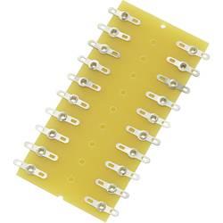 Pájecí lišta dvouřadá TRU COMPONENTS 1572091, pólů 20, epoxid, (d x š x v) 82 x 38 x 1.6 mm, 1 ks