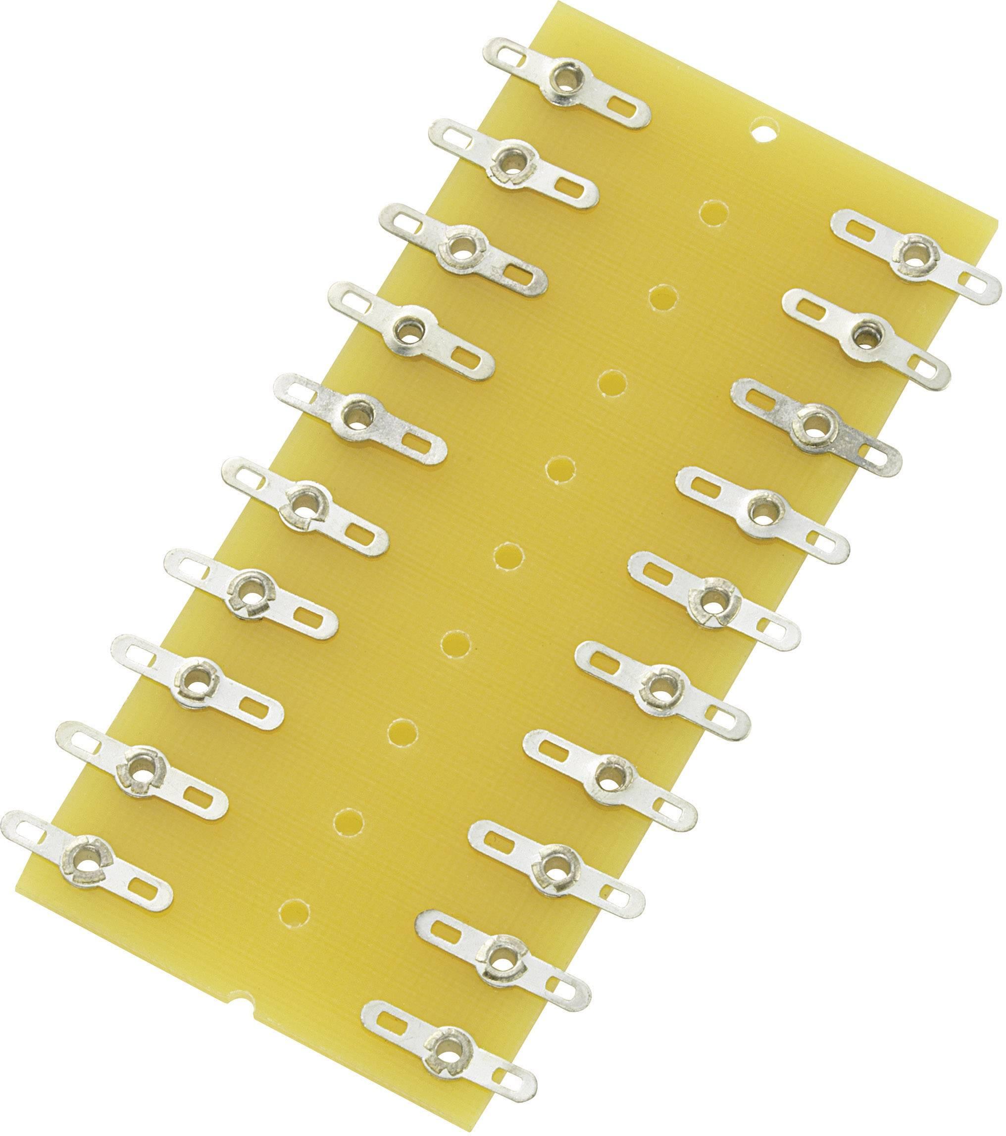 Spájkovacia lišta Conrad Components 530357, pólov 20, (d x š x v) 82 x 38 x 1.6 mm, 1 ks