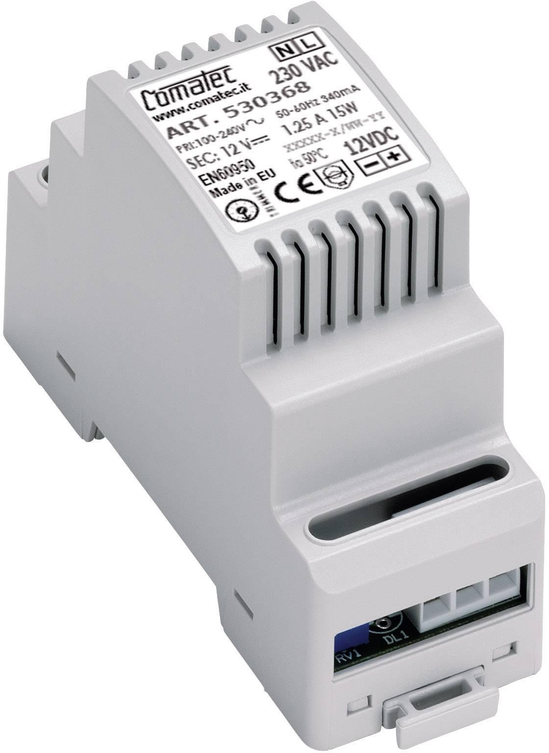 Sieťový zdroj na montážnu lištu (DIN lištu) Comatec TBD2/AR.0150.12/E8, 12 V/DC, 1.5 A, 18 W