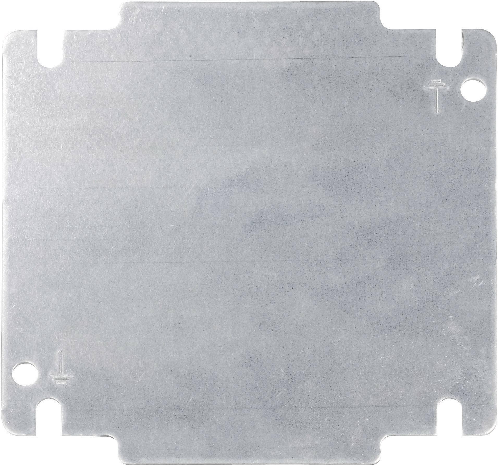 Montážna doska oceľový plech kov Schroff INLINE 32405-024, (d x š) 131 mm x 131 mm