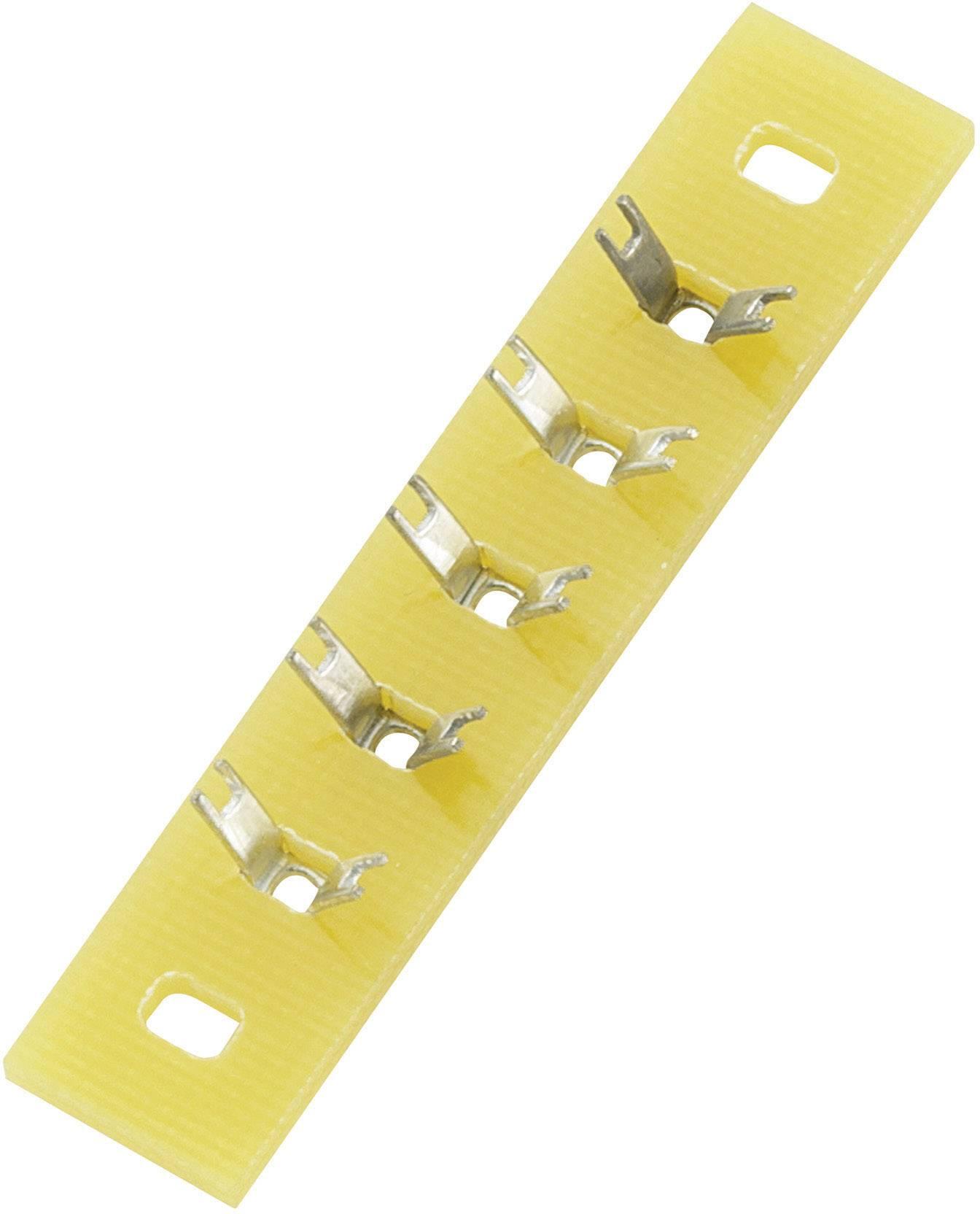 Spájkovacia lišta Conrad Components 530486, pólov 5, (d x š x v) 45 x 9 x 1.5 mm, 1 ks