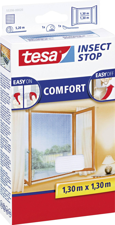 Síť proti hmyzu do oken tesa Insect Stop Comfort, (d x š) 1300 mm x 1300 mm, bílá, 1 ks