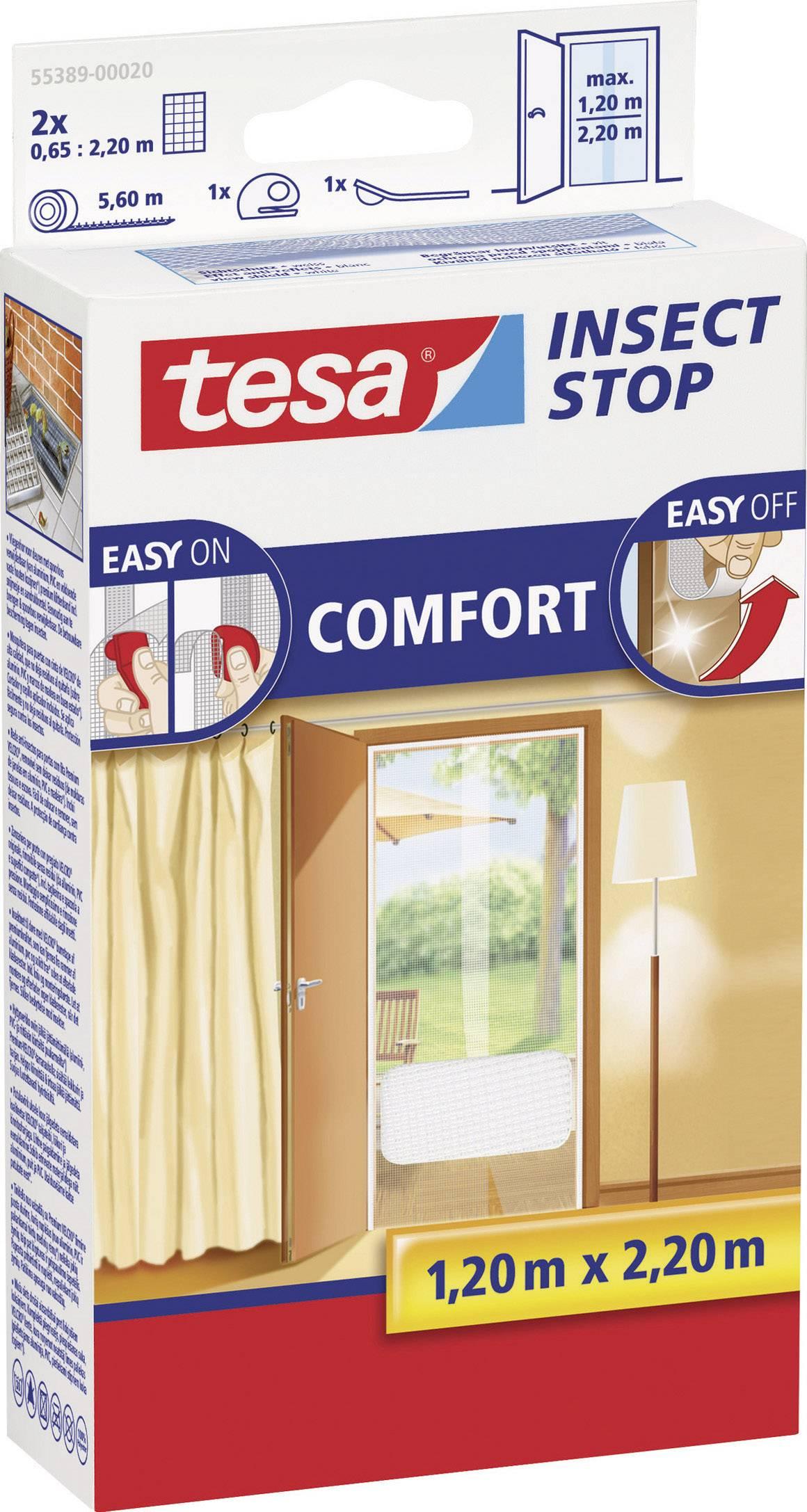Sieťka proti hmyzu Tesa Comfort do dverí