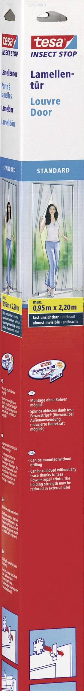 Záves proti hmyzu do dverí Tesa Standard, 55198-1-0, 0.95 x 2.2 m, antracit