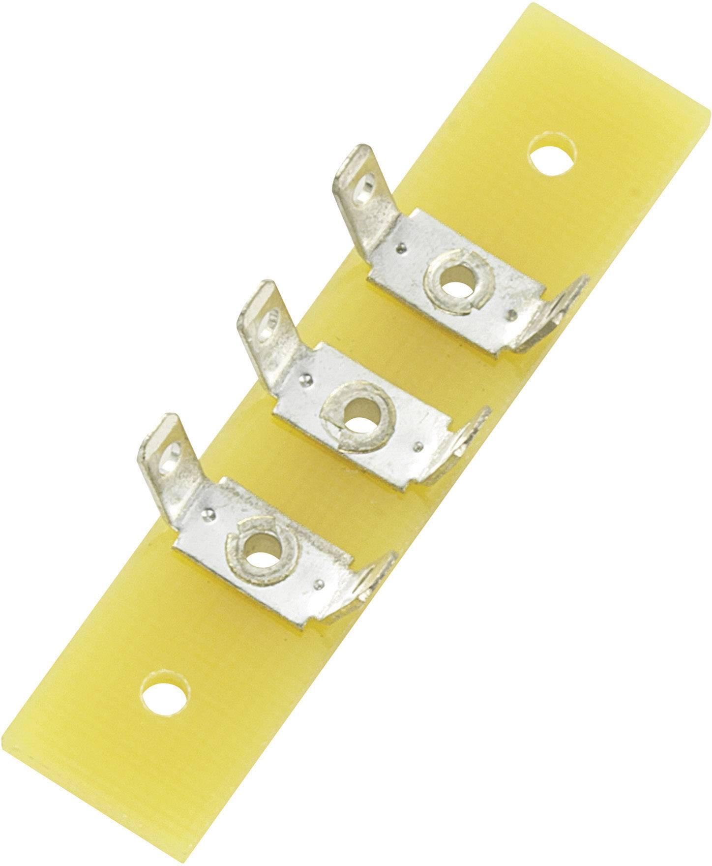 Spájkovacia lišta Conrad Components 530626, pólov 3, (d x š x v) 44 x 10 x 1.6 mm, 1 ks