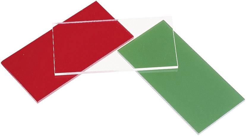 Plexisklo (d x š) 100 mm x 50 mm, hrúbka 3 mm, zelená, číra (tónované), 1 ks