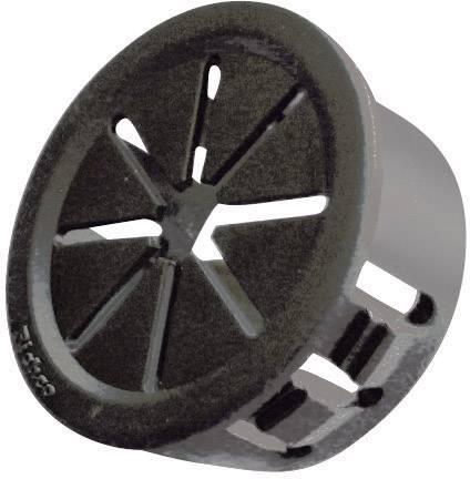 Káblová priechodka Richco PGSD-2, Ø 11.1 mm, polyamid, čierna, 1 ks