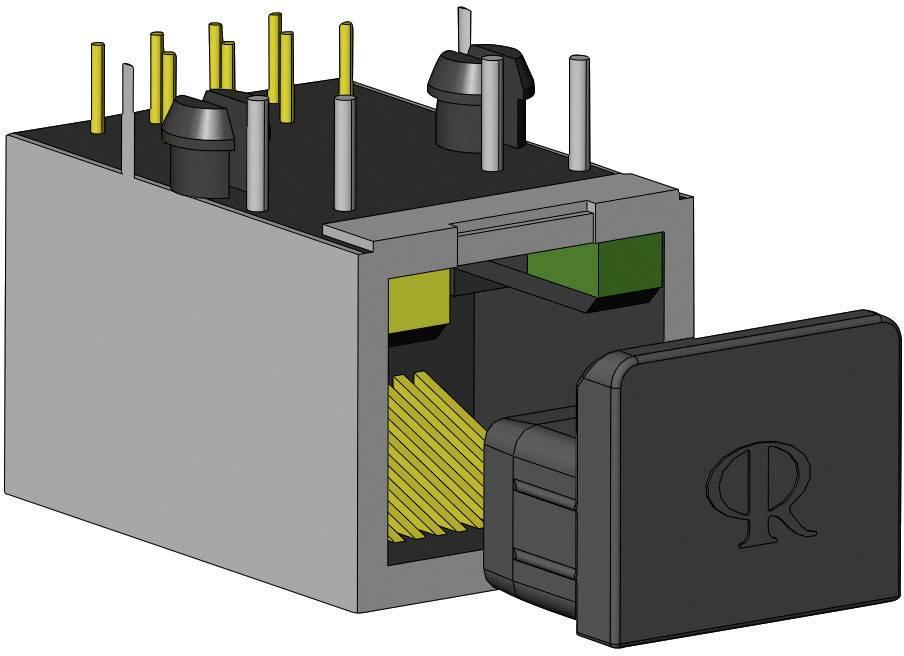 Krytka Richco CP-RJ45, silikón, kaučuk, čierna, 1 ks