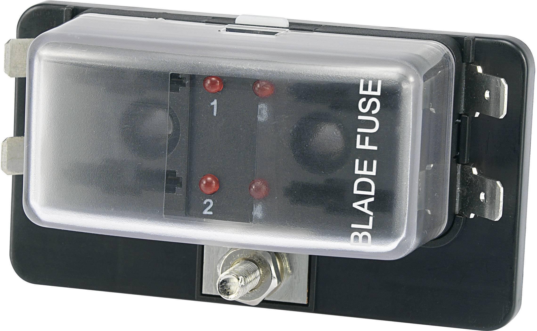 Automobilový poistkový odpínač SCI R3-76-01-3L104 530749, so zobrazením stavu, Vhodné pre štandardná plochá poistka, 30 A, 32 V/DC, 1 ks